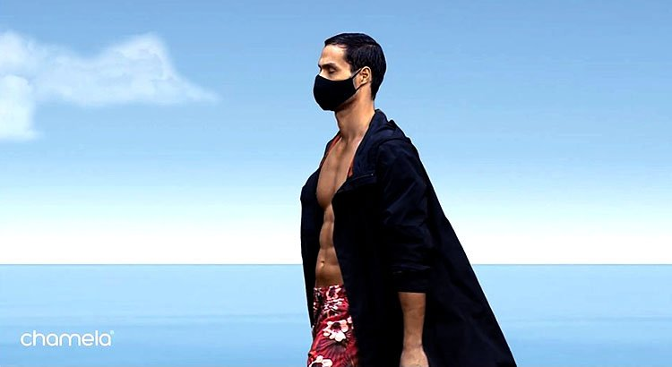 Modelo en prendas deportivas Puesta en Escena Chamela
