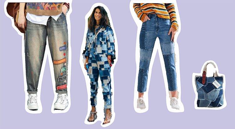 Ideas en patchwork como 5 maneras de utilizar denim en tus outfits.