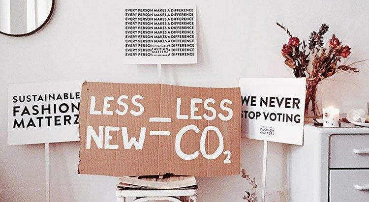 Portada mensaje y principios de moda sostenible