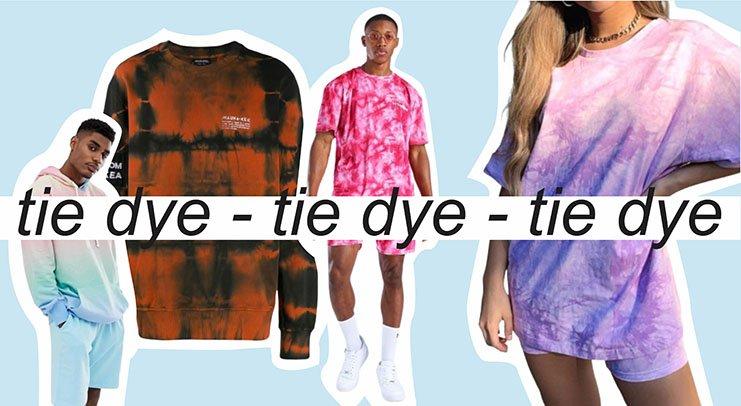 Portada sobre Tie Dye, usando prendas en ésta técnica
