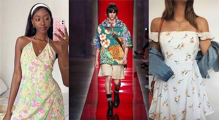 Estampado floral en los outfits del 2021